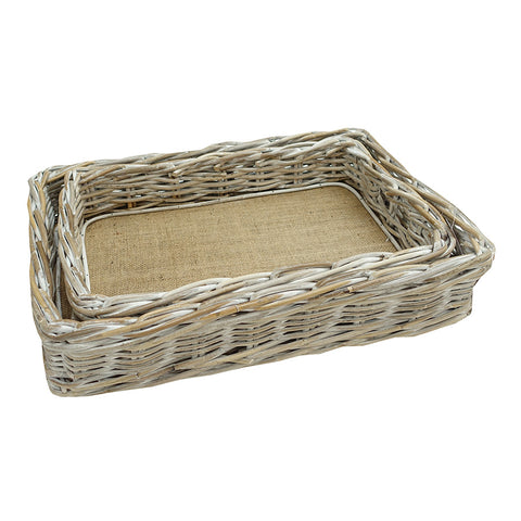 Rectangle Tray Kubu Whitewash Small