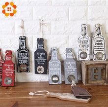 Load image into Gallery viewer, Creative Rustic Retro Wooden Beer Bottle Opener