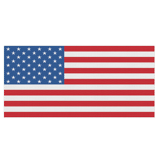 Hooke Road Old Glory Mesh Grille Insert USA Flag Steel(Jeep Wrangler JL 18-19)