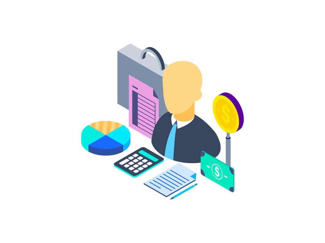 Financial Advisor Isometric Graphic - 29element