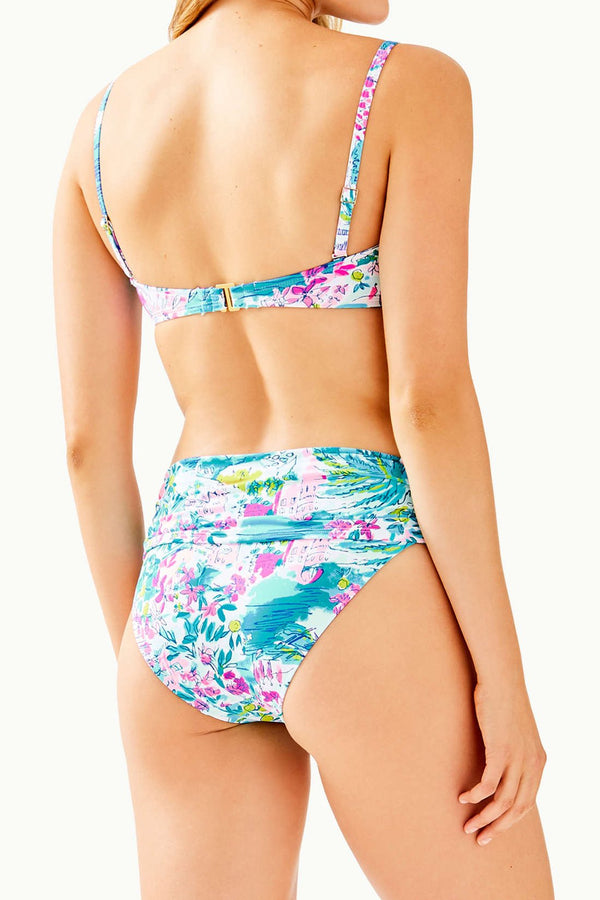 Knotted Printed Triangle Bikini Swimsuit - Two Piece Set
