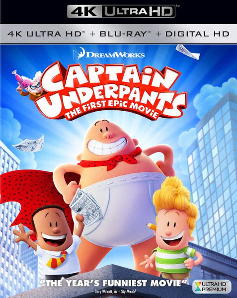 Captain Underpants: The First Epic Movie [4K UHD Bluray Disc Only] - OnlyTheDisc