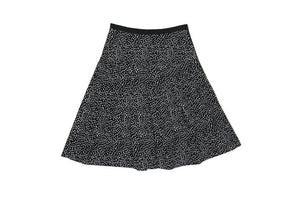 Seeds On Black Pleated Skirt