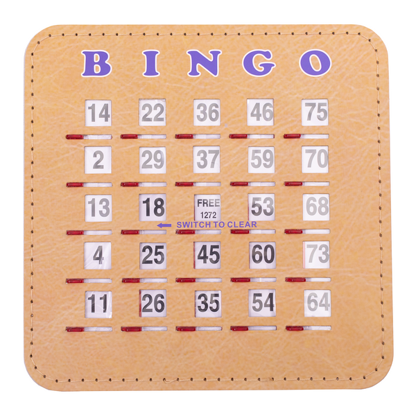 Woodgrain Quick Clear Bingo Shutter Card - Jackpot Bingo Supplies