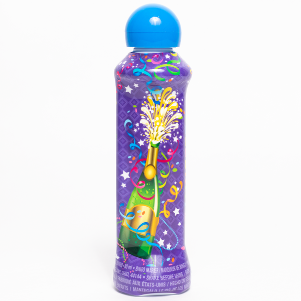 Party Bingo Dauber - Blue Ink Markers - 3 ounce size bottle - Jackpot Bingo Supplies