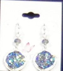 Blue Drop Stone Earrings