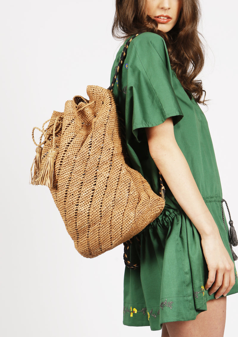 Women designer beach bag beachwear raffia accessory