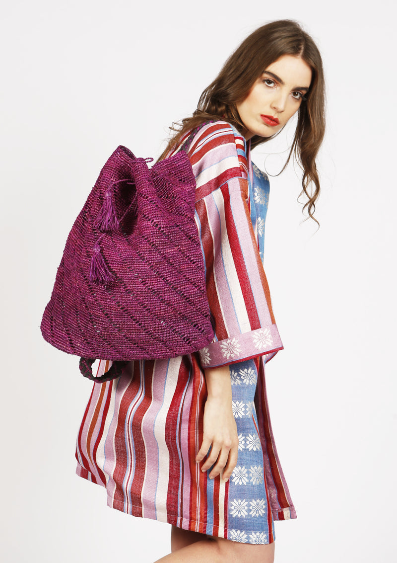 Affordable designer raffia beach bag ethically handmade