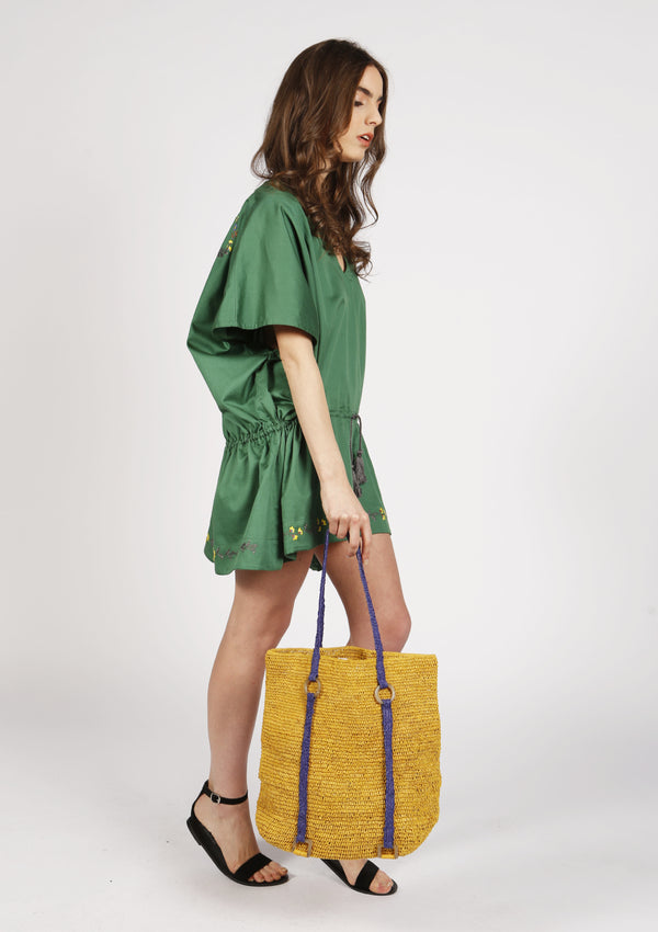 women raffia summer beach bag