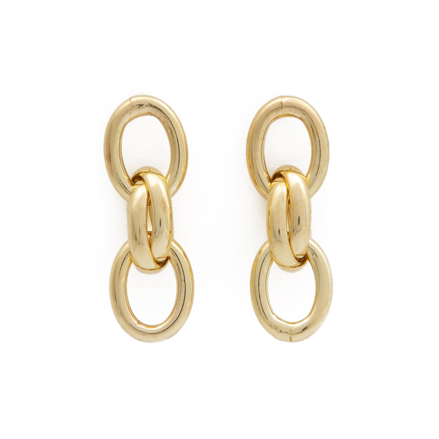 Chain Earrings - Gold Plated