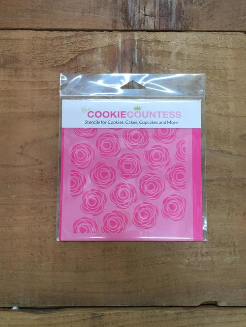 Stencil Scribble Roses 1pc