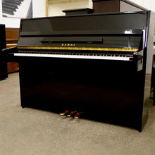 Load image into Gallery viewer, Kawai K-15E Upright Piano in black high gloss