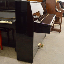 Load image into Gallery viewer, Kawai K-15E Upright Piano in black high gloss lateral