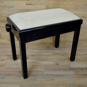 black polish beige velvet piano stool