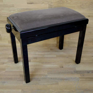 black polish brown velvet piano stool