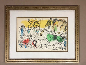 "Marc Chagall ""HOMECOMING"" Original Mid-Century Art Lithograph"