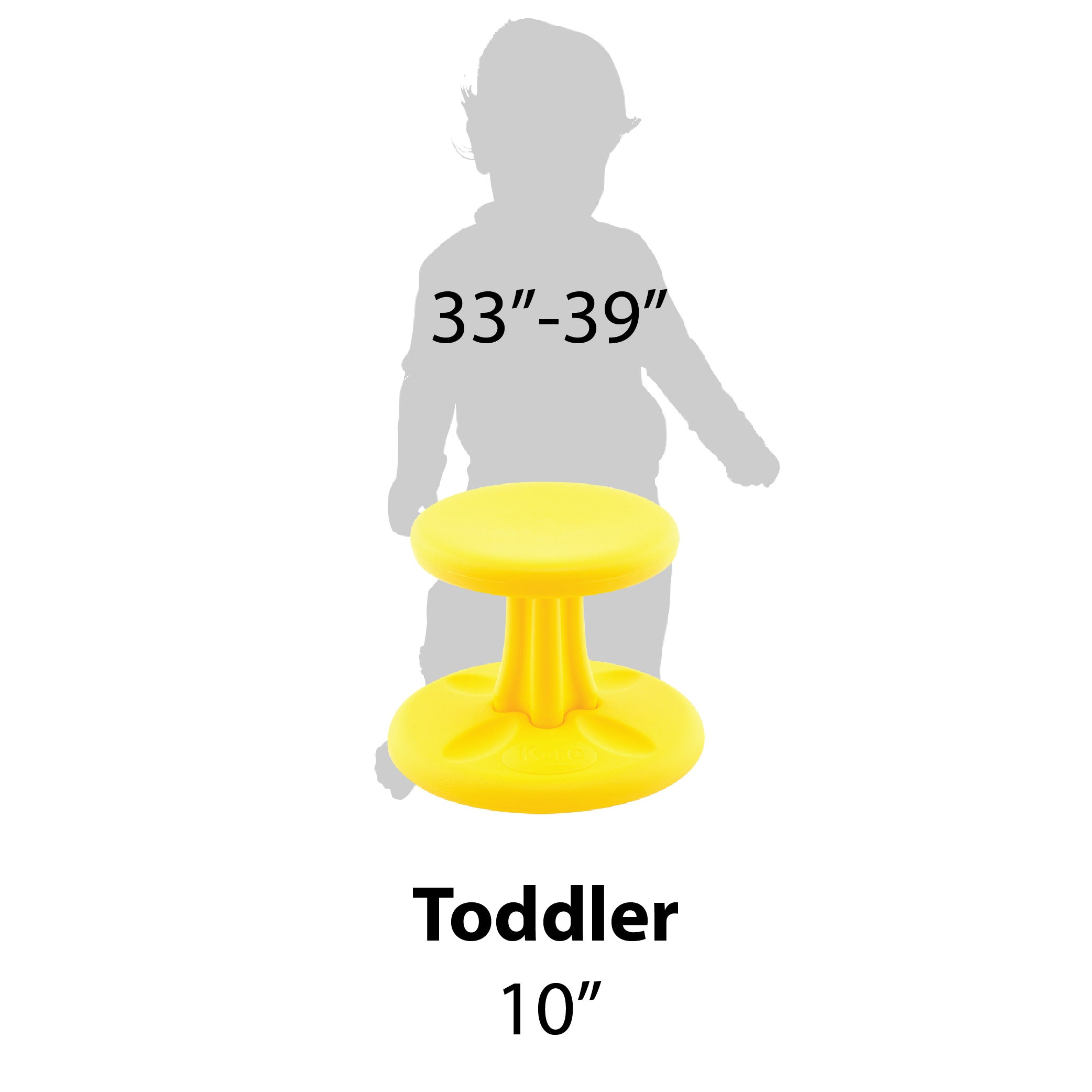Kore Patented Wobble Chair NOW Antimicrobial - Toddler Size 10""