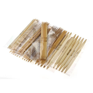 Knitting needles Set of 17 Sizes Bamboo Double Pointed needles 15cm (6 inches)