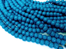 Load image into Gallery viewer, Blue wood round beads - Blue Wooden Dyed Beads 10x9mm - 30pcs