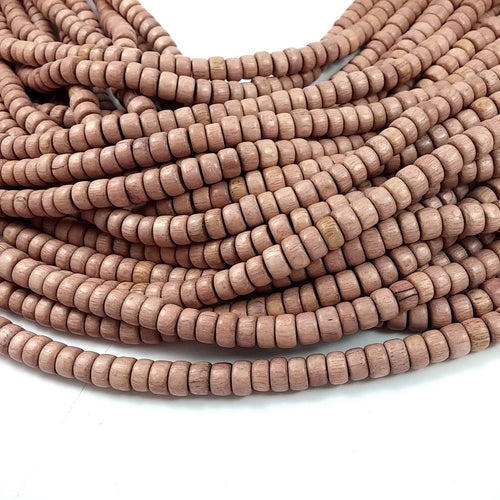 Rosewood beads 8mm - Natural Mala Wooden Beads - Rondelle