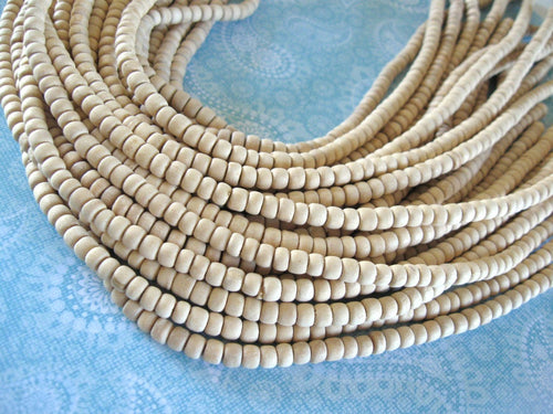 Unfinished wood beads 80 Natural wood beads 4-5mm beads