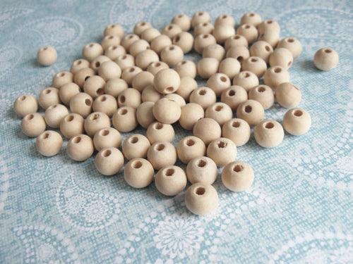 Natural Wood Beads round 8mm unfinished spacer beads 90pcs