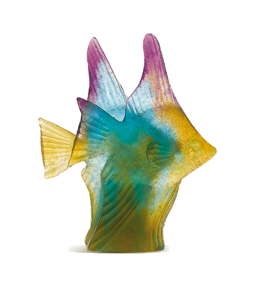 Amber green fish couple
