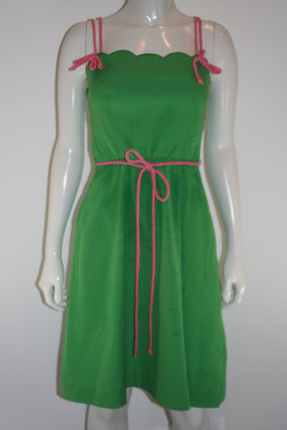 Jenni Green Scalloped Bodice Dress