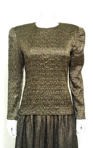DONATED- Diane Dickinson Metallic Tweed Dress