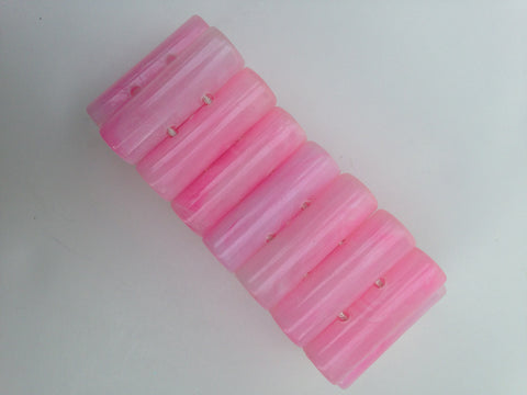 Pink Marbled Acrylic Stretch Bracelet