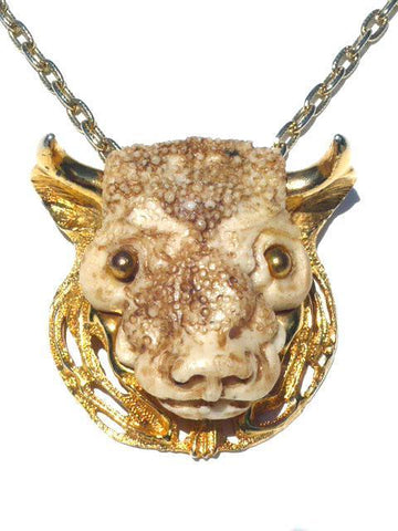 Razza Resin Taurus Zodiac Necklace