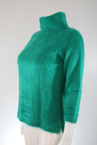 Scott-Teens Sportswear Emerald Green Funnel Neck Sweater