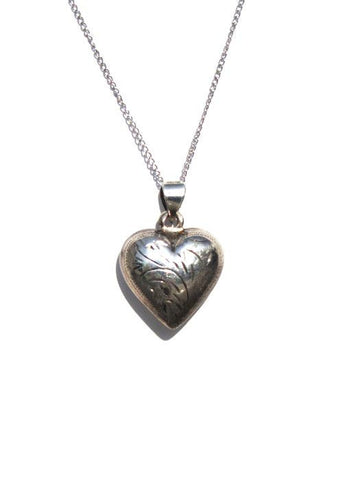 Puffy Heart Pendant Necklace