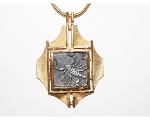 Razza Pewter Scorpio Zodiac Necklace