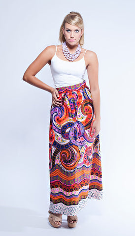 Alex Coleman Psychedelic  Maxi Skirt
