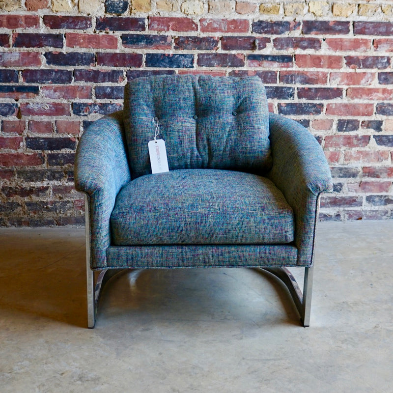 Mid-century Barrel Back Lounge Chair from Selig