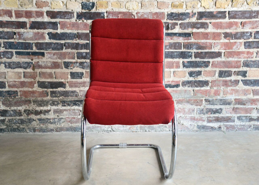 Mid Century Chrome Wire Frame Dining Chair
