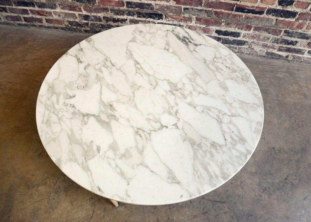 Round Marble Topped Coffee Table