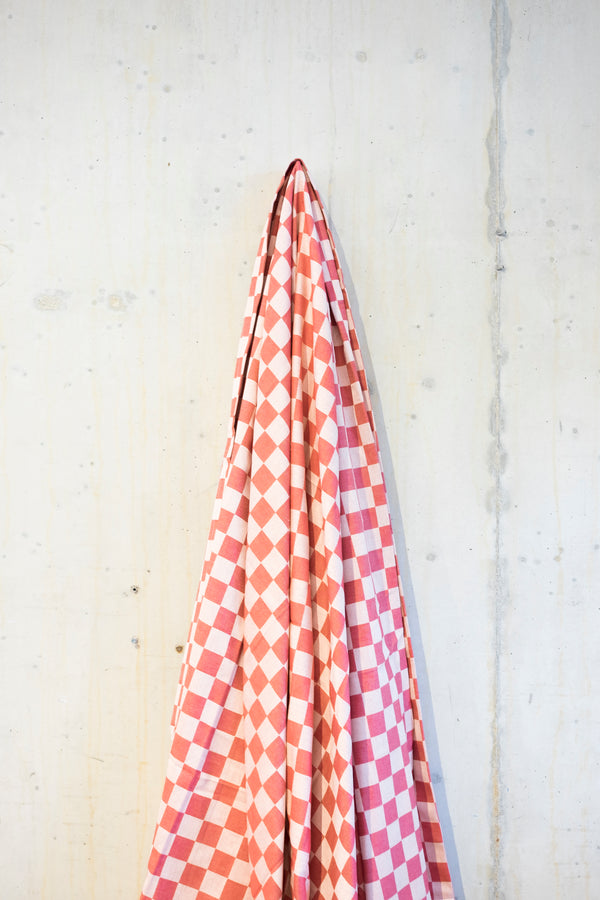 Classic check tablecloth - Red/Ecru