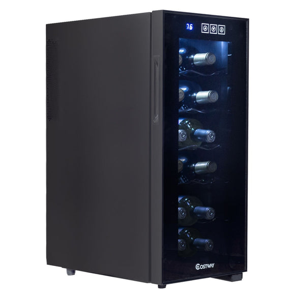 12 Bottle Standing Thermoelectric Wine Cooler - Wines Club