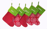 Personalized Monogrammed Christmas Stocking - Machine Embroidery - Whimsical