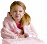 PERSONALIZED BABY BLANKET - Machine Embroidered - Baby Pink Luxury Blanket