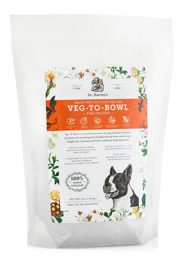Dr. Harvey's Veg-To-Bowl Fine Ground, Dehydrated Vegetable Pre-Mix for Dogs - NJ Pet Supply