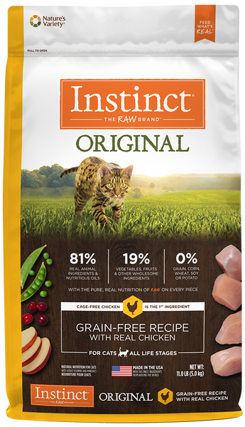 Nature's Variety Instinct Original Grain-Free Recipe with Real Chicken Dry Cat Food
