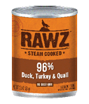 RAWZ 96% Meat Duck, Turkey, and Quail Wet Dog Food, 12.5-oz Cans