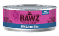 RAWZ 96% Meat Salmon Pate Wet Cat Food, 5.5-oz Cans