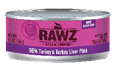 RAWZ 96% Meat Turkey and Liver Pate Wet Cat Food, 5.5-oz Cans