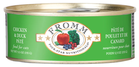 Fromm 4-Star Chicken and Duck Pate Canned Cat Food - NJ Pet Supply