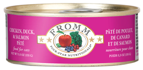 Fromm 4-Star Chicken, Duck, and Salmon Pate Canned Cat Food - NJ Pet Supply
