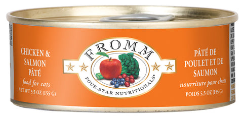 Fromm 4-Star Chicken and Salmon Pate Canned Cat Food - NJ Pet Supply
